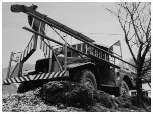 Lève poteau en 1965